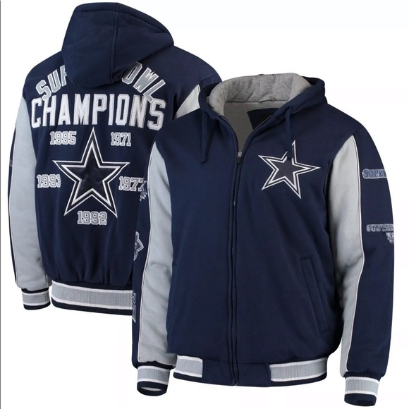 on sale 249af 3c408 Dallas Cowboys Commemorative 5x Super Bowl Jacket